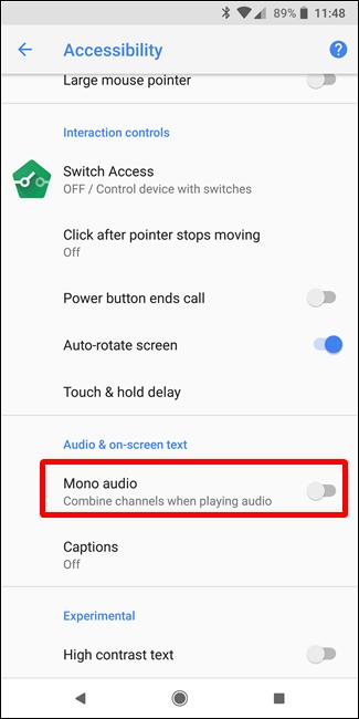Use Mono Audio